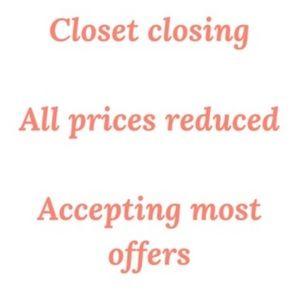 MAKE OFFERS. Closet closing soon